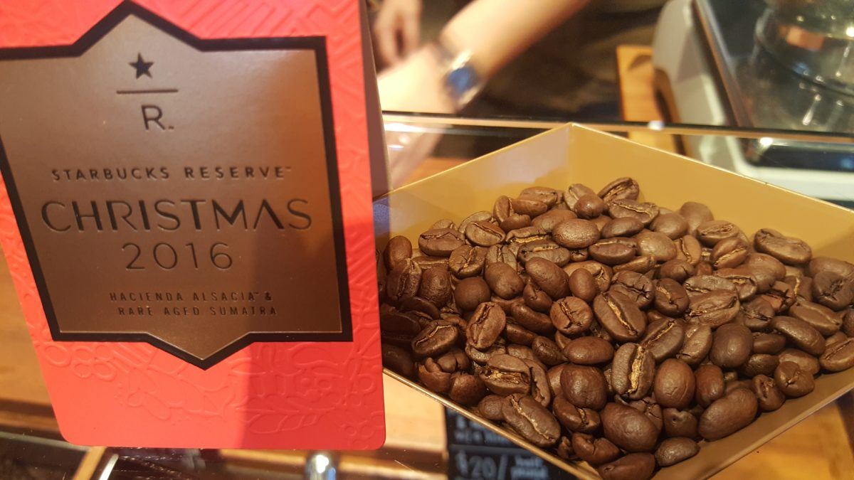 Starbucks Christmas Reserve: Cliff recommends it as an espresso shot. Well, it's all around amazing.
