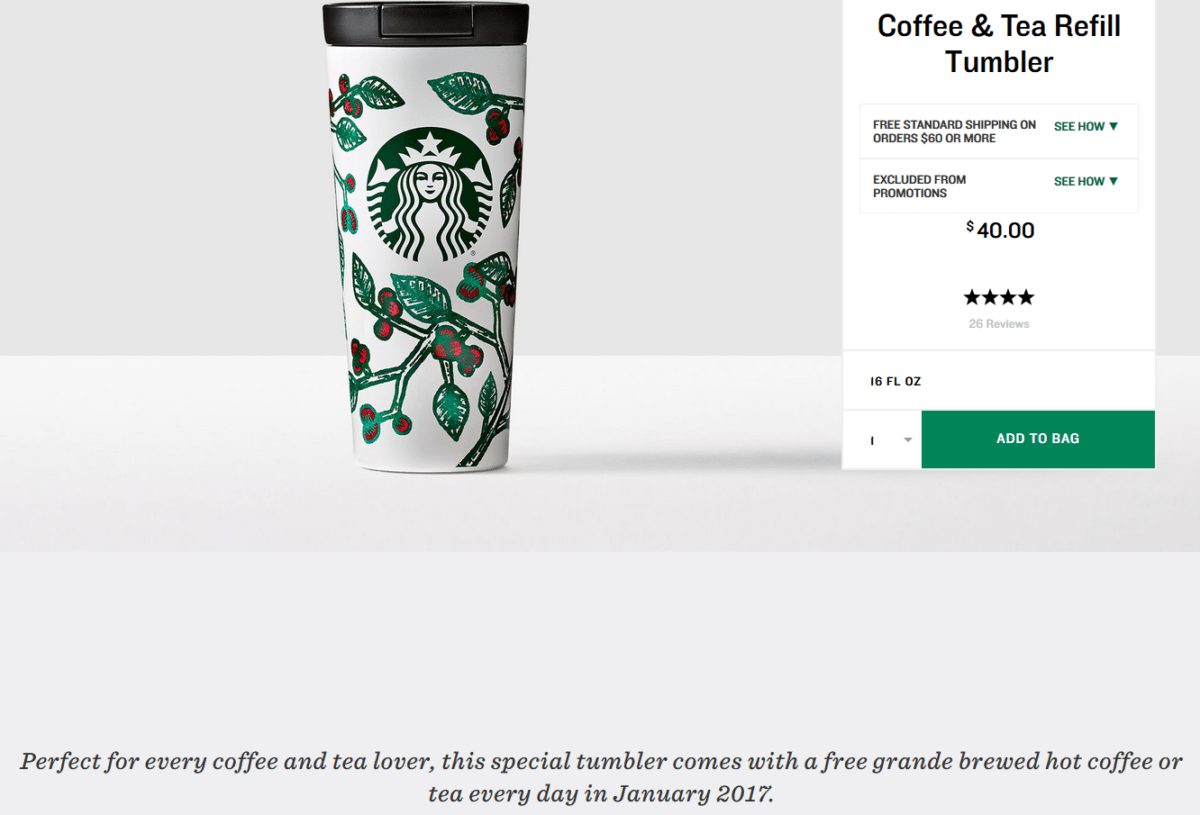 The January 2017 Starbucks Refill Tumbler is Back. - StarbucksMelody.com