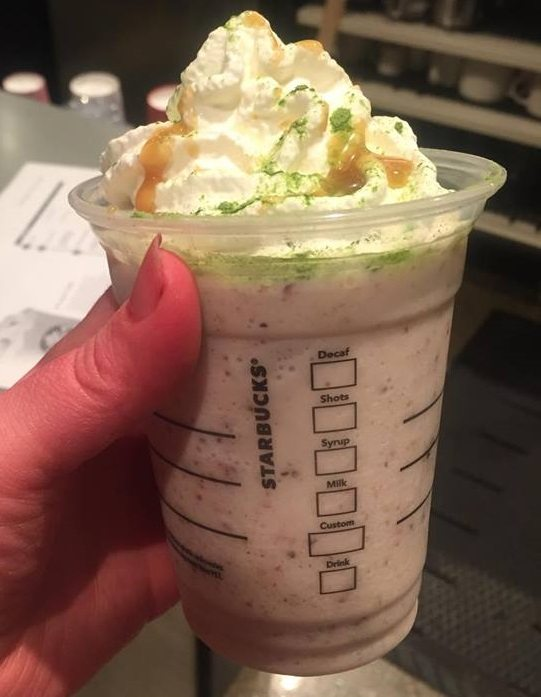 Fruit cake Frappuccino
