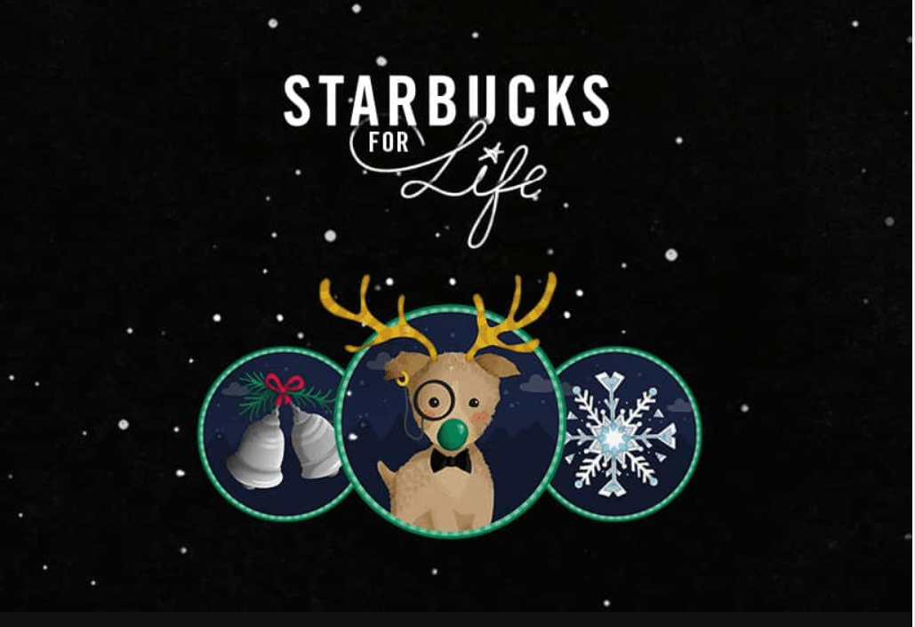 Starbucks for Life is back! Start playing now to win Starbucks for Life! December 6, 2016 – January 16, 2017.