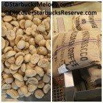 2 - 1 - 2017 Feb 07 Grid of burlap sack Rwanda Musasa and unroasted coffee