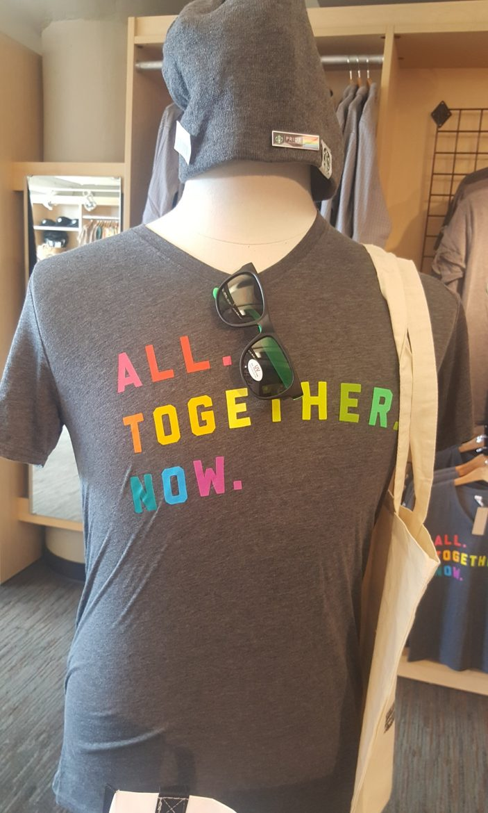 Get your 2017 Pride Starbucks t-shirt!