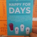 Front of Happy For Days Frappuccino Stickers