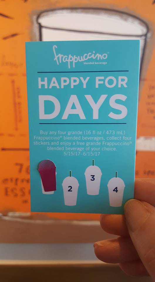 Frappuccino: Happy For Days. Buy 4 get 1 free