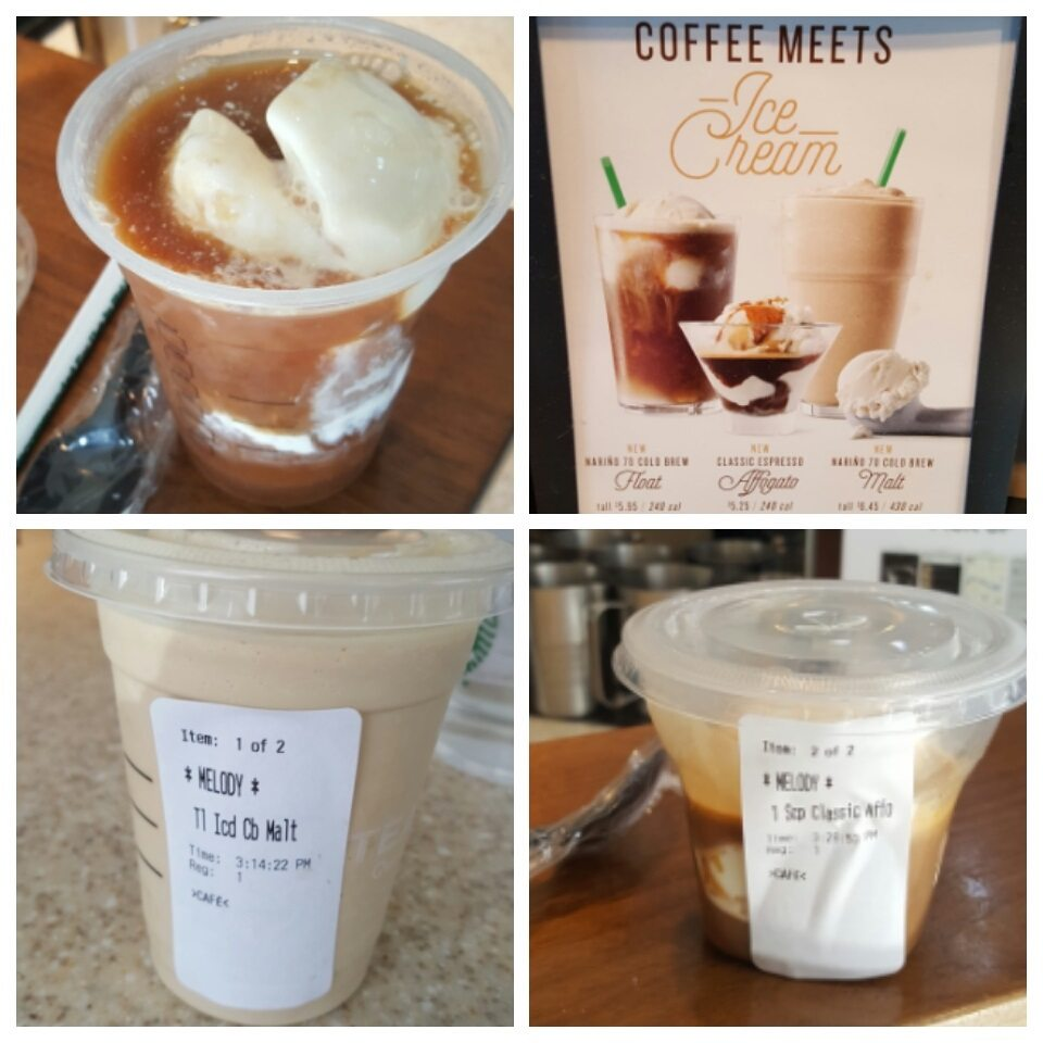 Ice cream creations at Orange County Starbucks stores.
