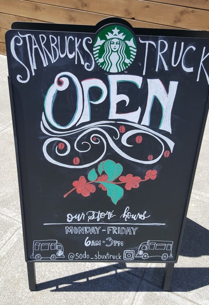 20170605_124800 Chalk sign for the Starbucks Truck