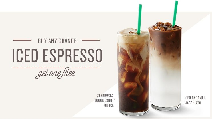 Starbucks Buy 1, Get 1 Free event: June 27 through July 2nd