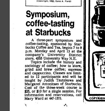 Coffee Symposium: University Way Starbucks (#Flashback)