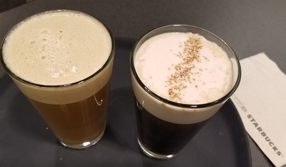 Nitro Cascara Cloud and the Dirty Chai: New beverages at Starbucks Reserve Bars.