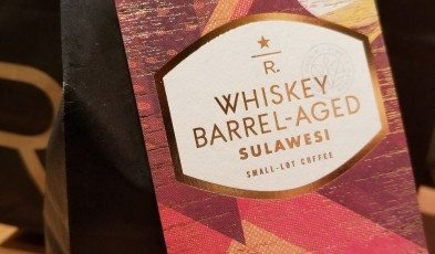 2017 Sept 17 Whiskey Barrel-Aged Sulawesi whole bean coffee