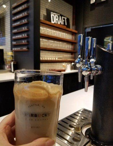 Nitro Flat White 2017 Sept 23 - 7th and Westlake Starbucks