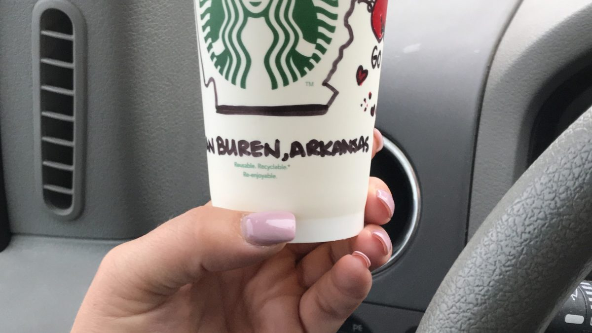 Hand Drawn Cup Makes an Arkansas Starbucks Customer's Experience Perfect