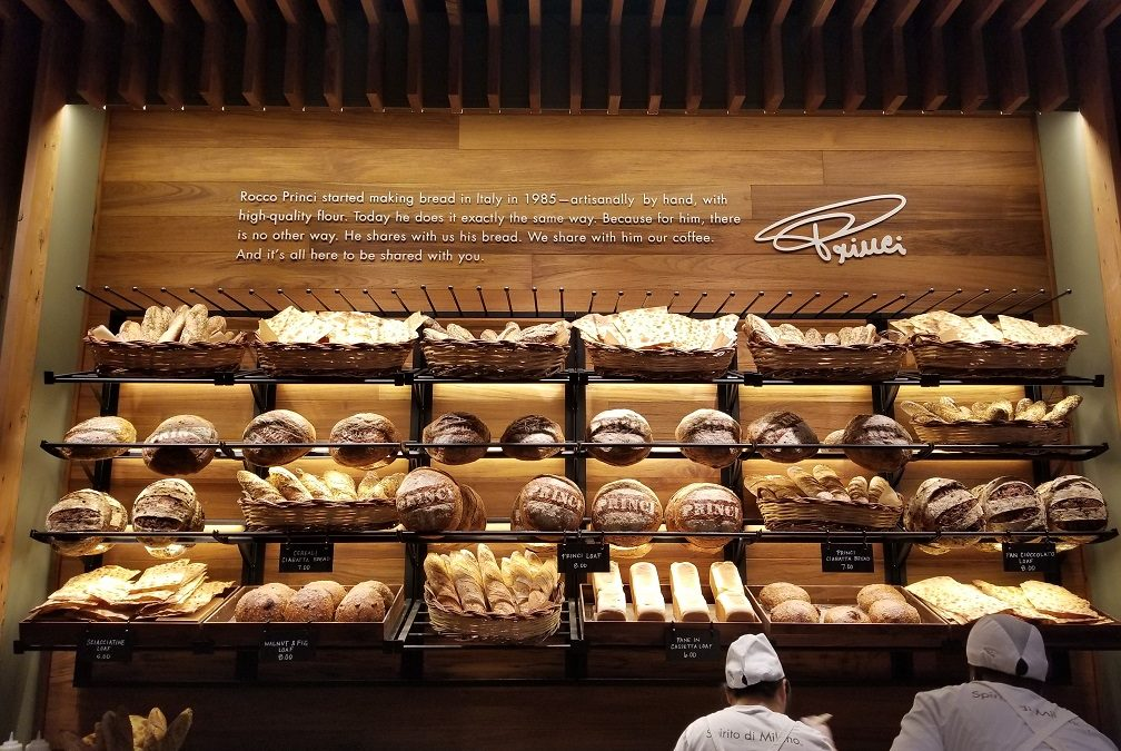 Starbucks opens Princi Bakery: Delish & high quality.