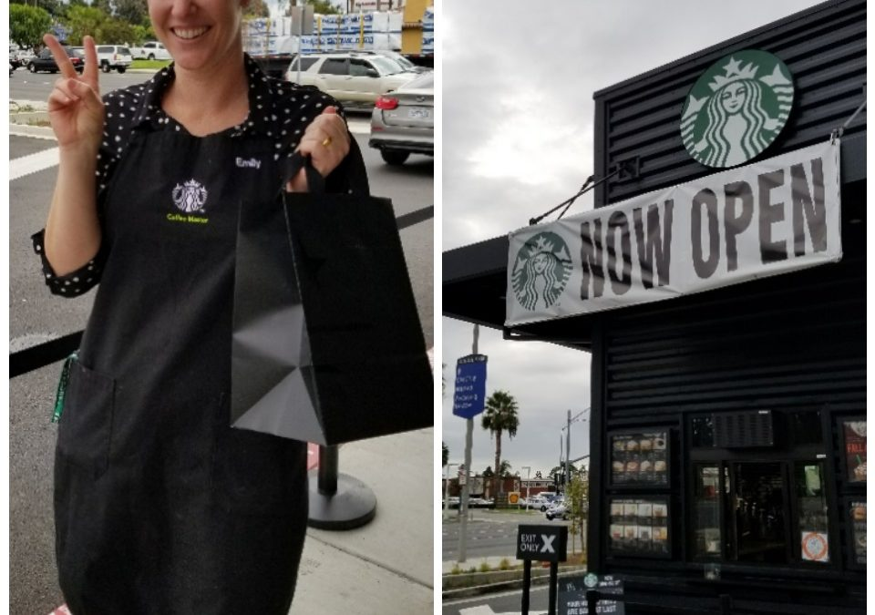 Cute new drive-thru only Starbucks in Anaheim! (Opened new on 10-9-17)