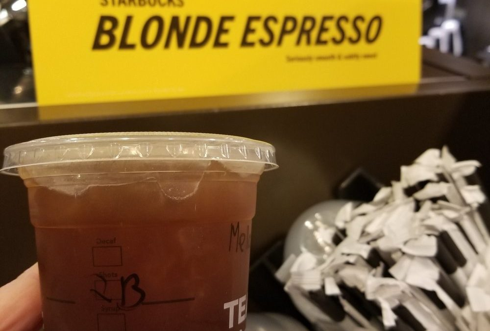 Starbucks Espresso Goes Blonde: Lighter roast espresso now available.