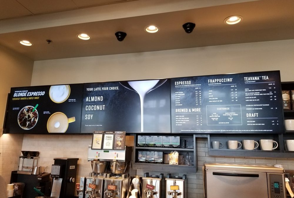Is Starbucks switching to digital menu boards? Goodbye paper!