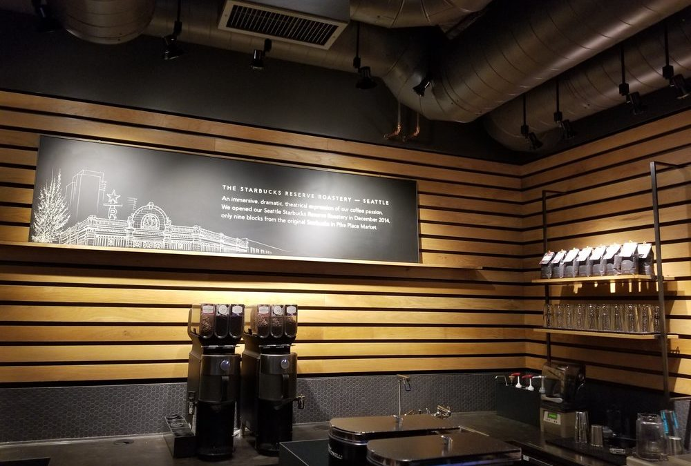The First Starbucks Reserve store: Roastery-inspired beverages and no Frappuccinos. The Strato makes its appearance.