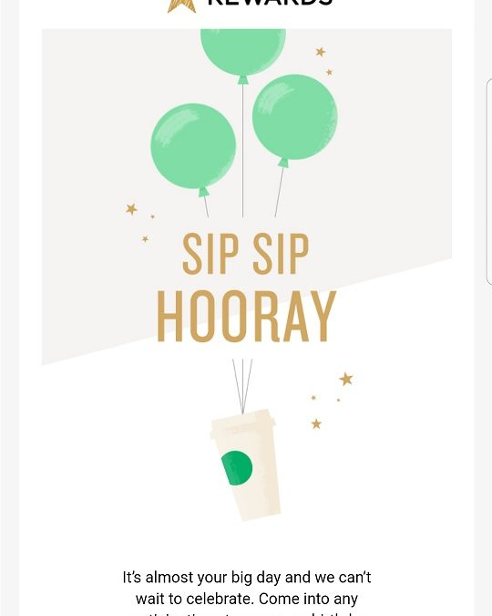 Use your Starbucks birthday reward on your birthday: One day only (Used to be 4 days).