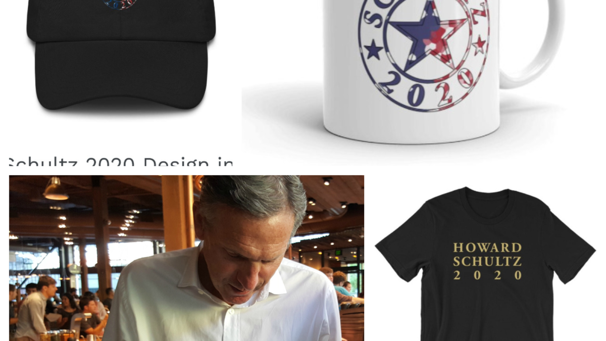 Howard Schultz for President 2020 merchandise is here: Will Howard run for president?