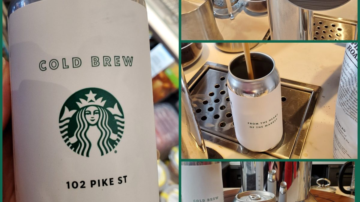 This Starbucks is canning its own cold brew.
