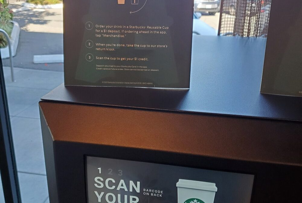 Starbucks introduces a twist on the $1 reusable cup – Use the cup once, get your $1 back.
